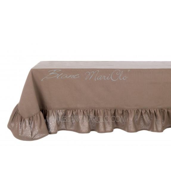Mantel básico con gala color madera